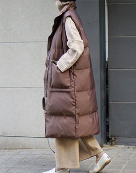 KLEIN padding long vest - 2 colors
