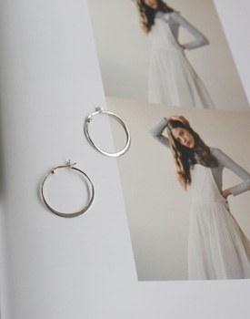 Leto silver ring earring