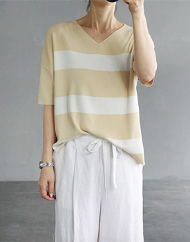 Glam stripe knit top - 2c