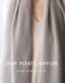 Dewy Pleats Muffler - 2c