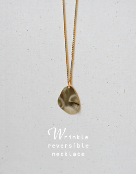 Wrinkle reversible  necklace