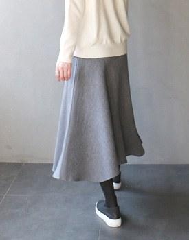 Flare Knit Skirt - 3c