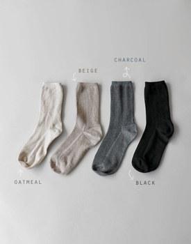 Long Leg Corrugated Socks - 4c