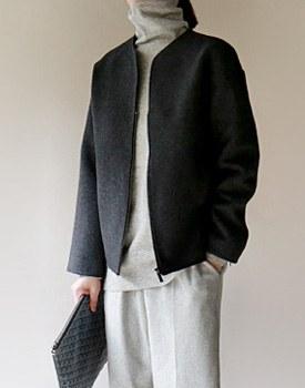 Zip padding jacket -  2c