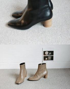 Terra wood heel ankle boots -  2c